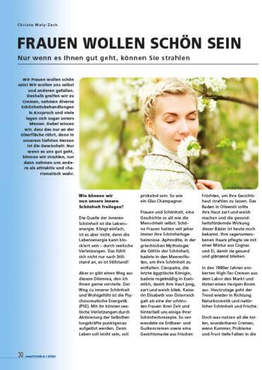 Pulsar Artikel - Frauen wollen schön sein